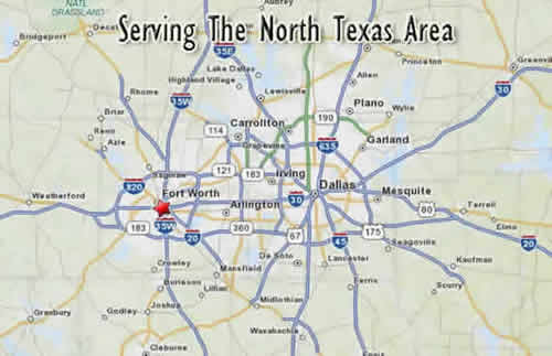 Service Area North Texas Map